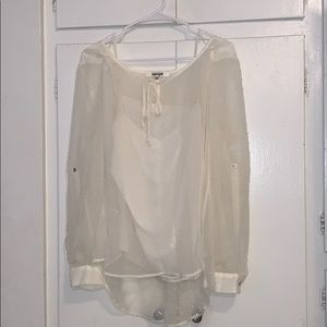 Daniel Rainn sheer blouse with attached cami